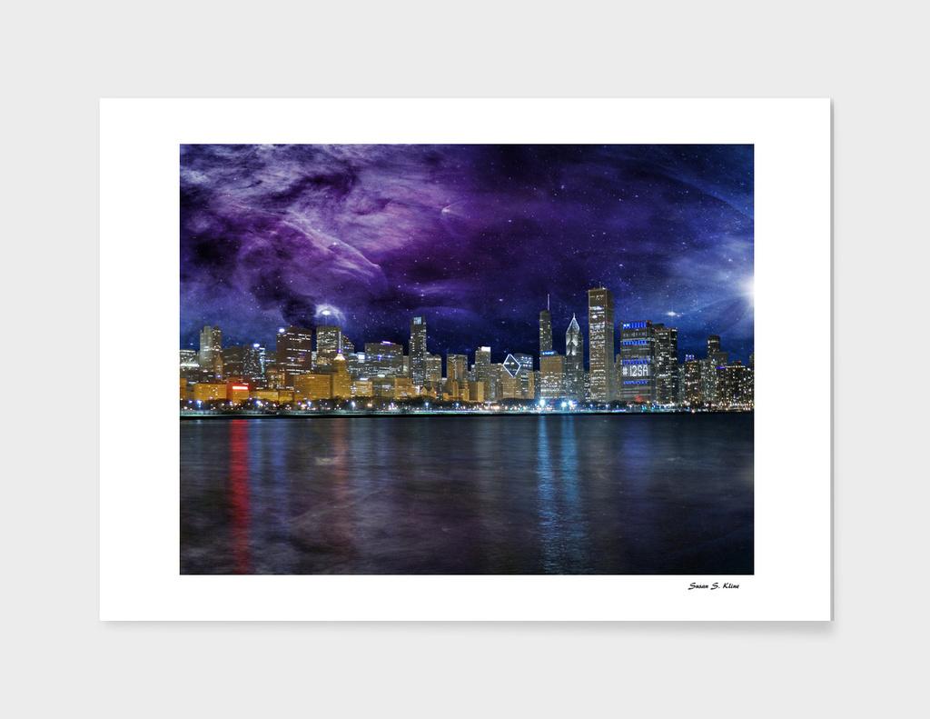 Spacey Chicago Skyline