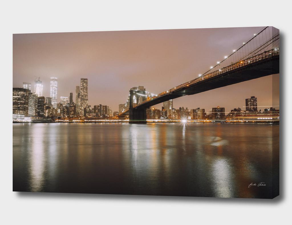 Brooklyn Brigde and Manhattan