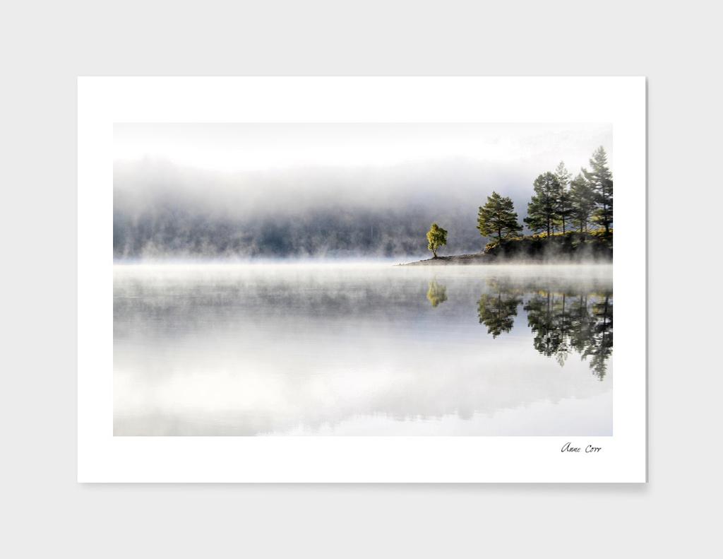 Misty morning at Loch Affric