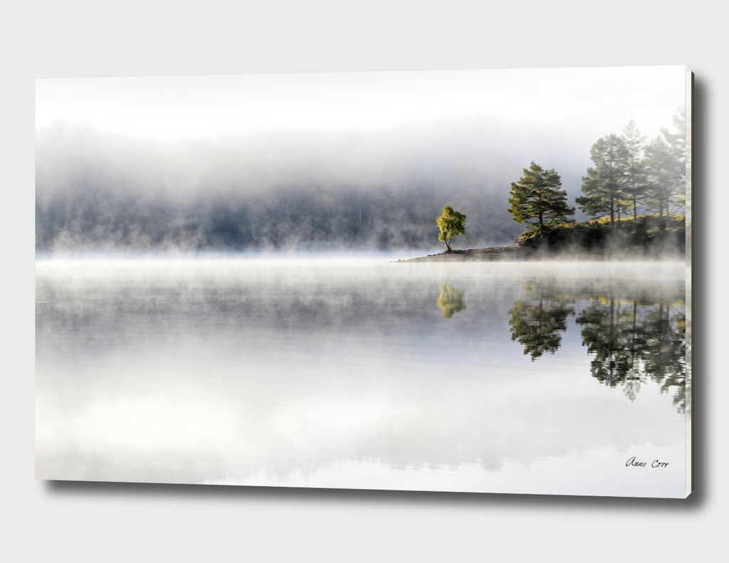 Misty morning at Loch Affric