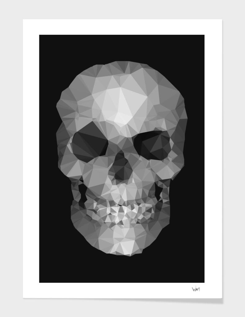 Polygons skull black