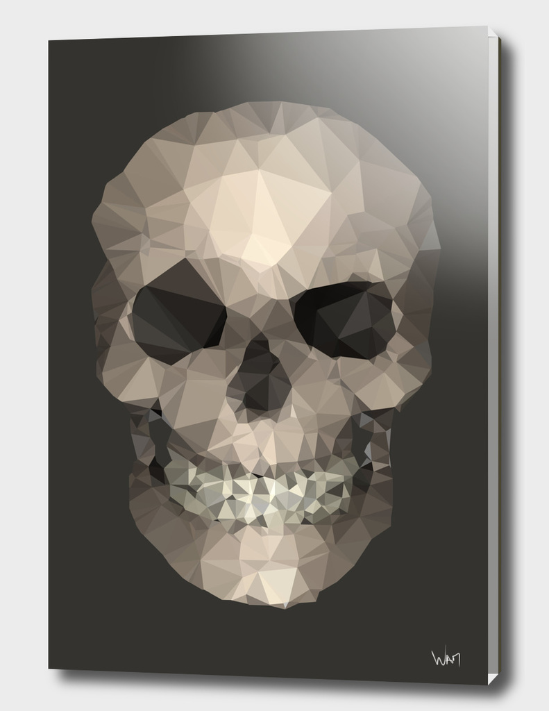 Polygons skull brown