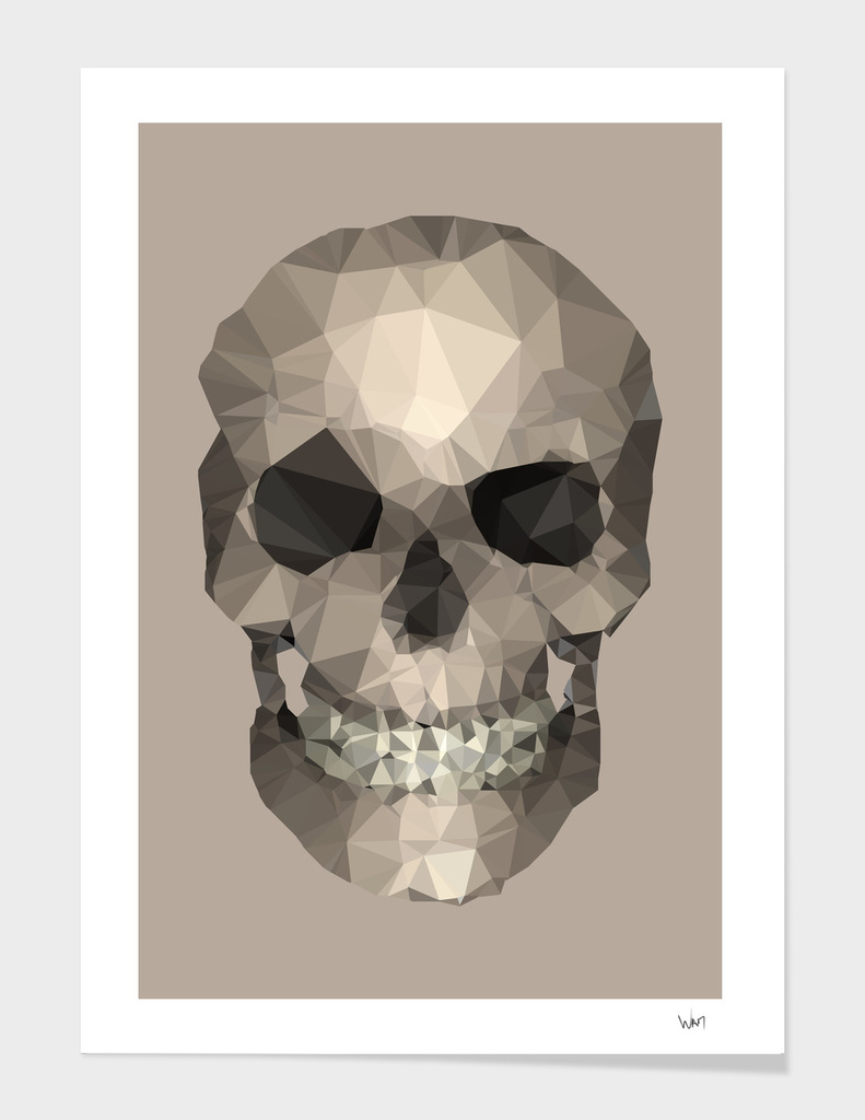 Polygons skull beige