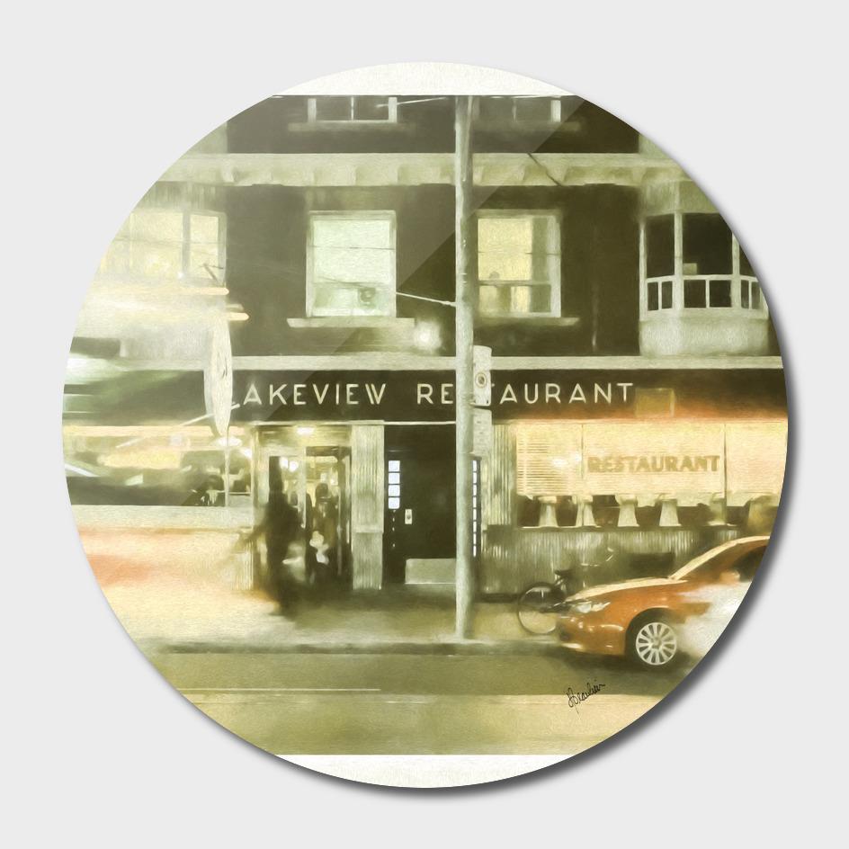 141102I Lakeview Restaurant, phot-paint