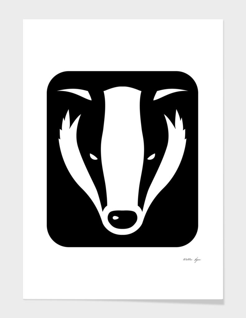 Badger head poster