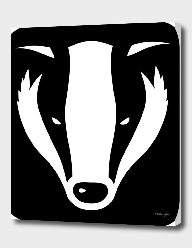 Badger head poster