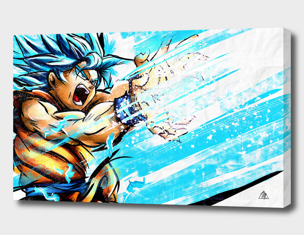 Son Goku SSJBLUE FanArt