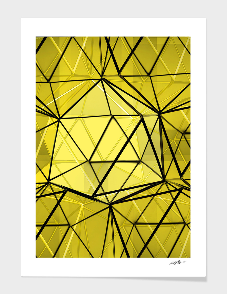geometric black and yellow
