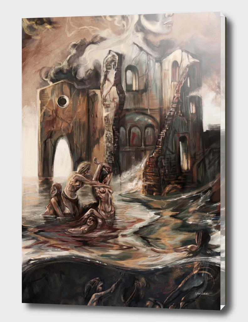 Swimming at the Ruin