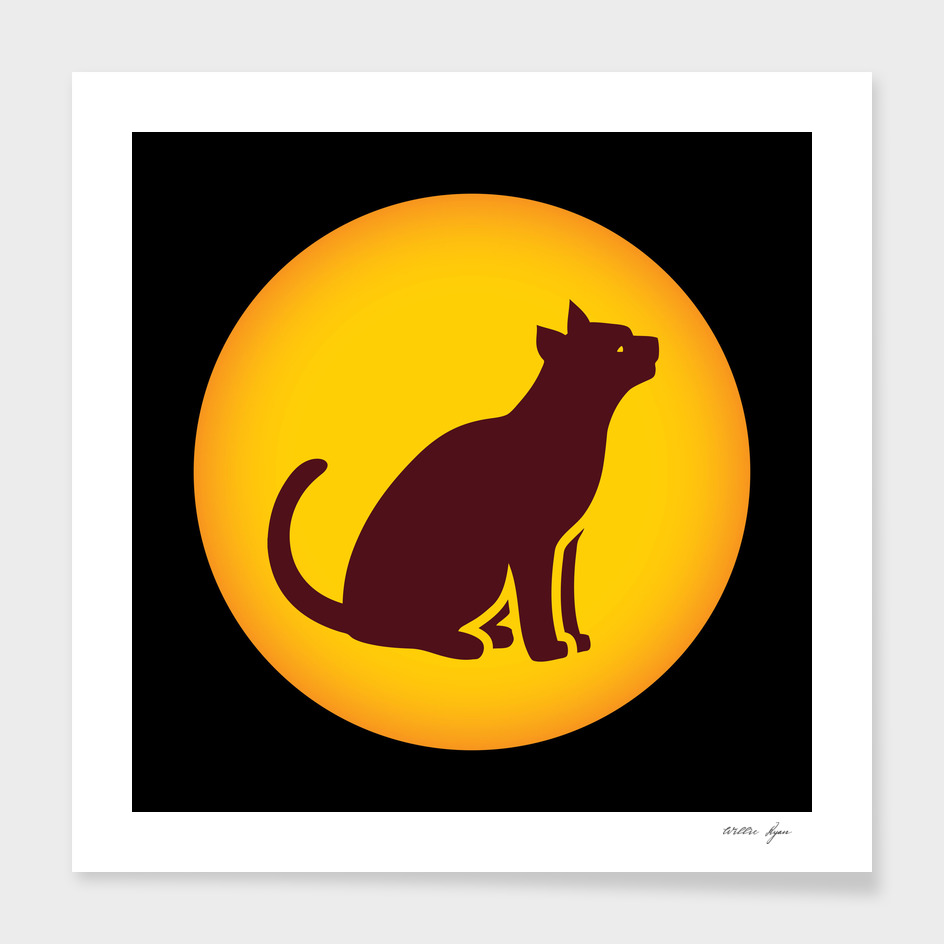 Cat icon poster print