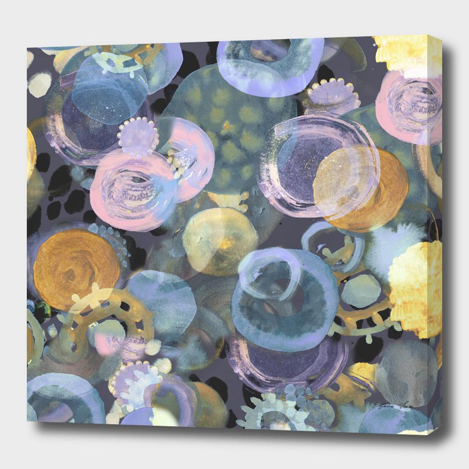 Multicolour Painted Dots