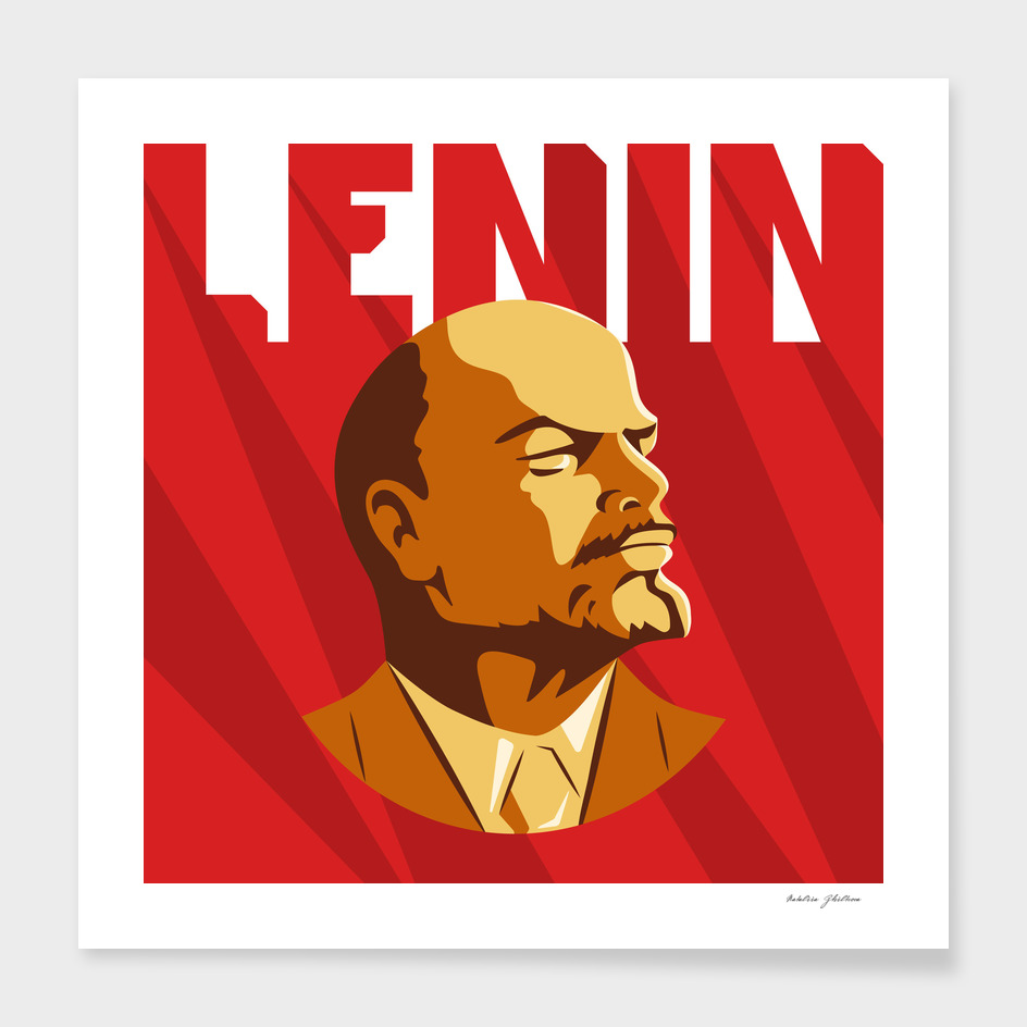 Portrait of Vladimir Lenin.