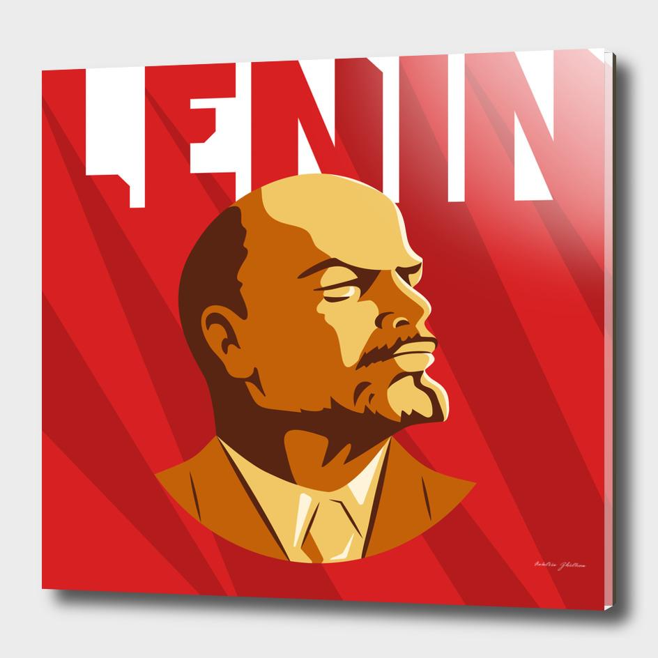 Portrait of Vladimir Lenin.