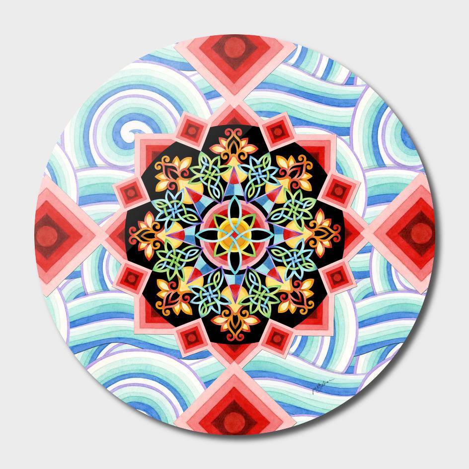 Chinoiserie Waves Mandala