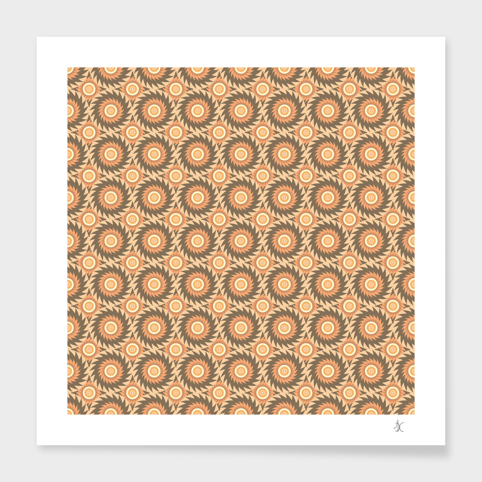 Pattern with Round Elements