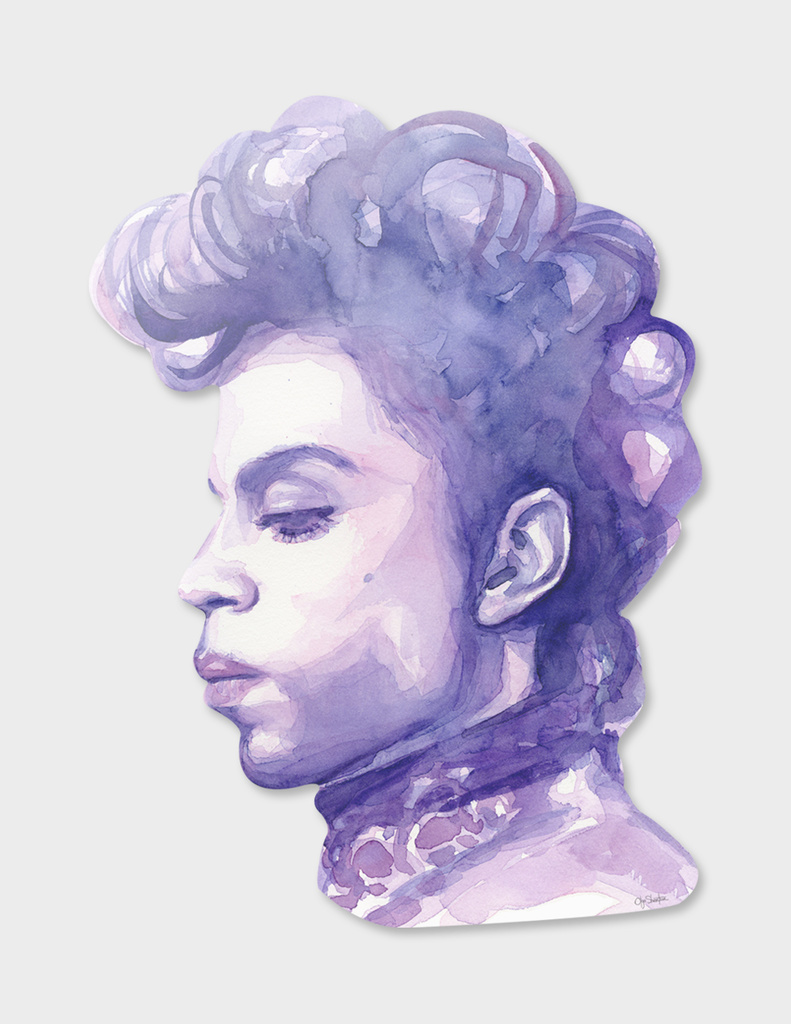 Prince Watercolor Portrait