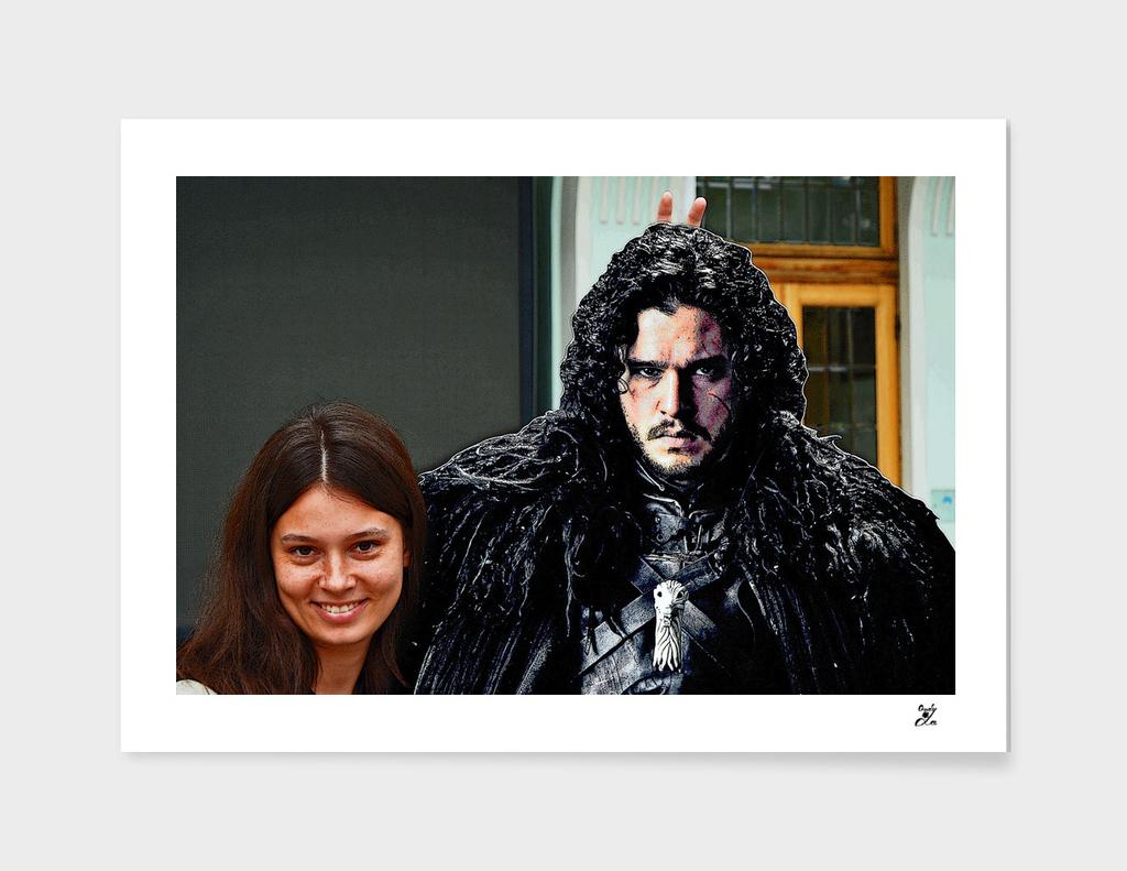 Jon Snow. Do Not Worry! Be Happy!