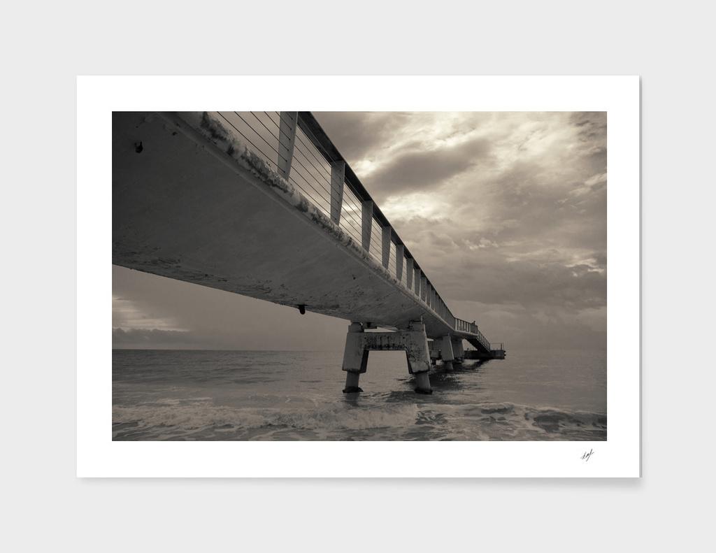 Cloudy Sea Pier