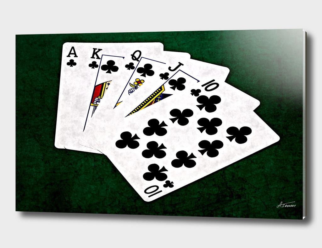 Poker Hands - Clubs Royal Flush