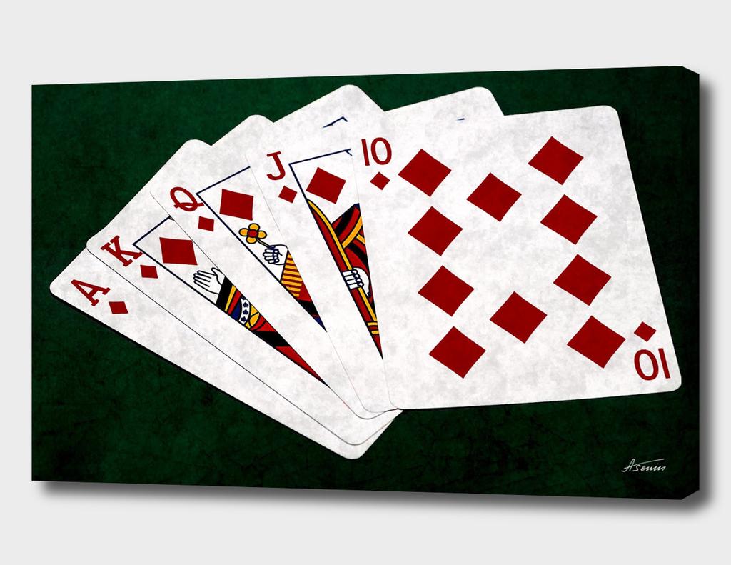 Poker Hands - Diamonds Royal Flush