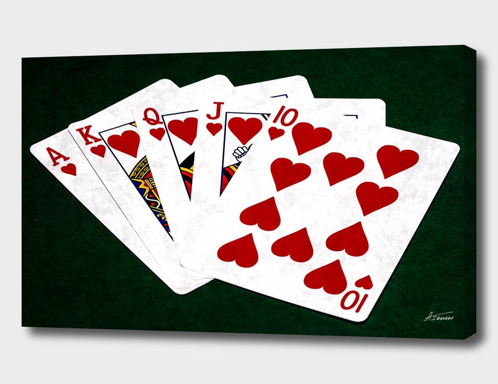 Poker Hands - Hearts Royal Flush