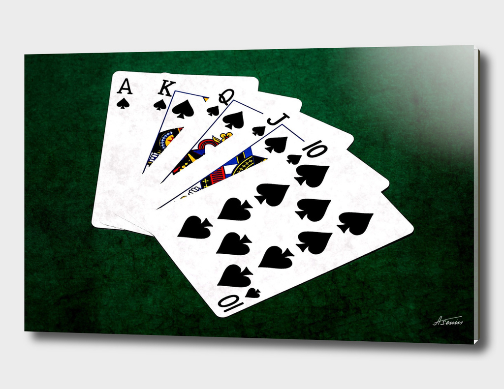 Poker Hands - Spades Royal Flush