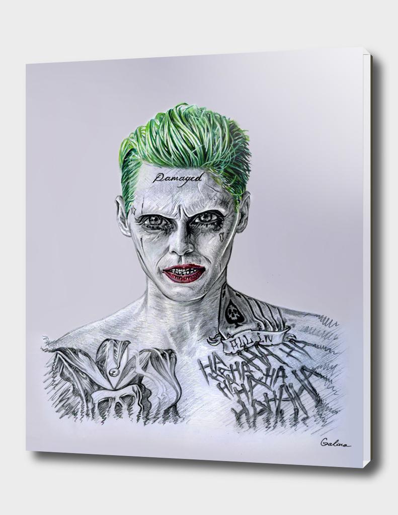 Joker in realistic-cartoon style