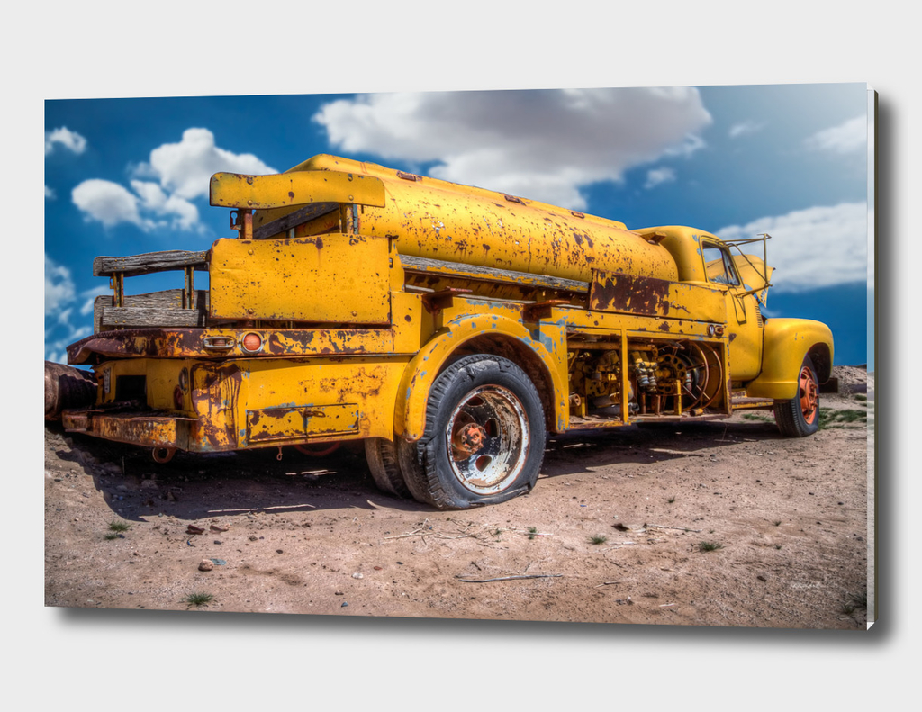 Busted Yellow Tanker