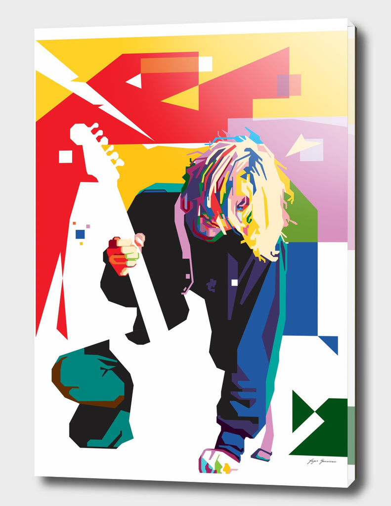 Kurt Cobain in WPAP Art