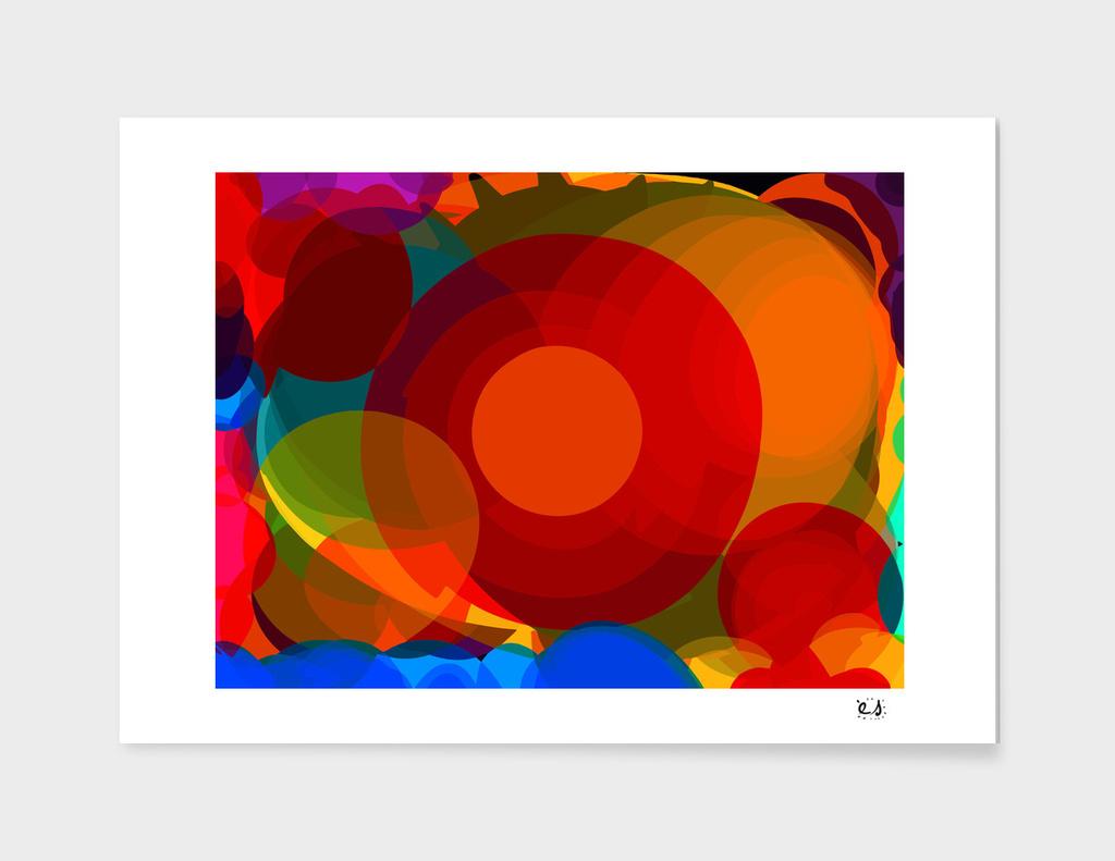 Abstract Art Expressionist Zen Circles