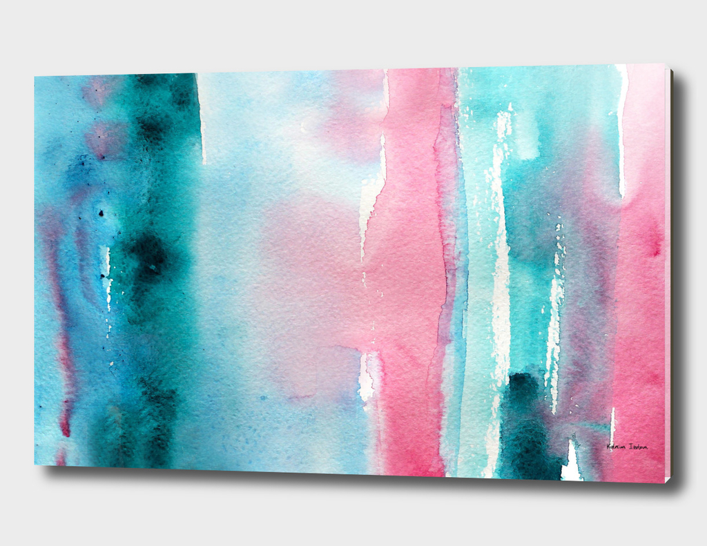 Turquoise love || watercolor
