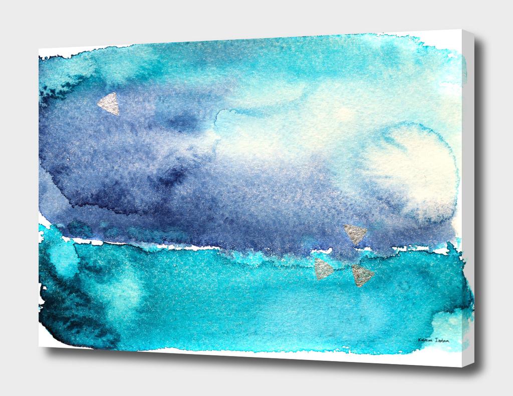 Vibrant ocean || watercolor