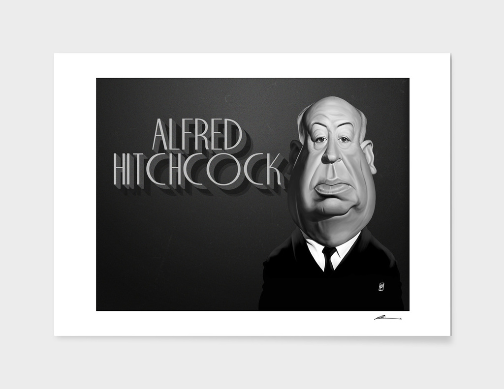 Alfred Hitchcock - vintage movie card