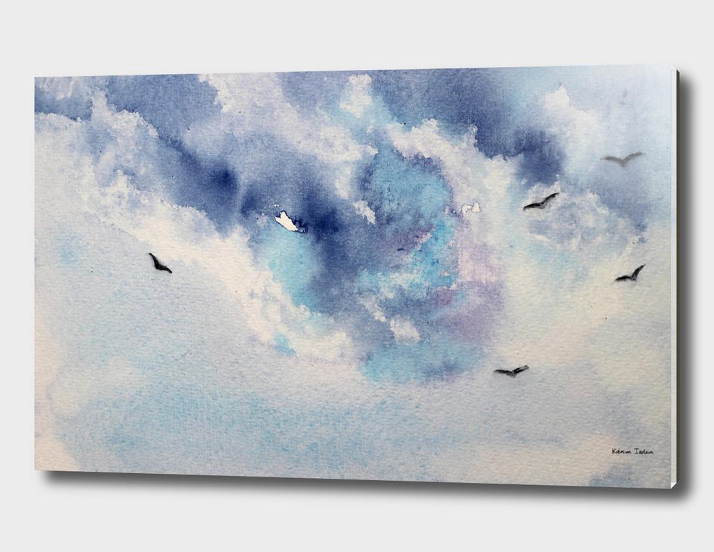 Dramatic sky    watercolor