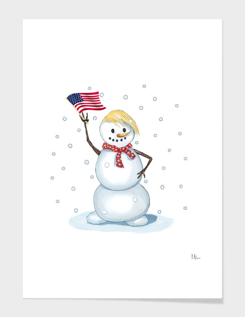 Trump snowman