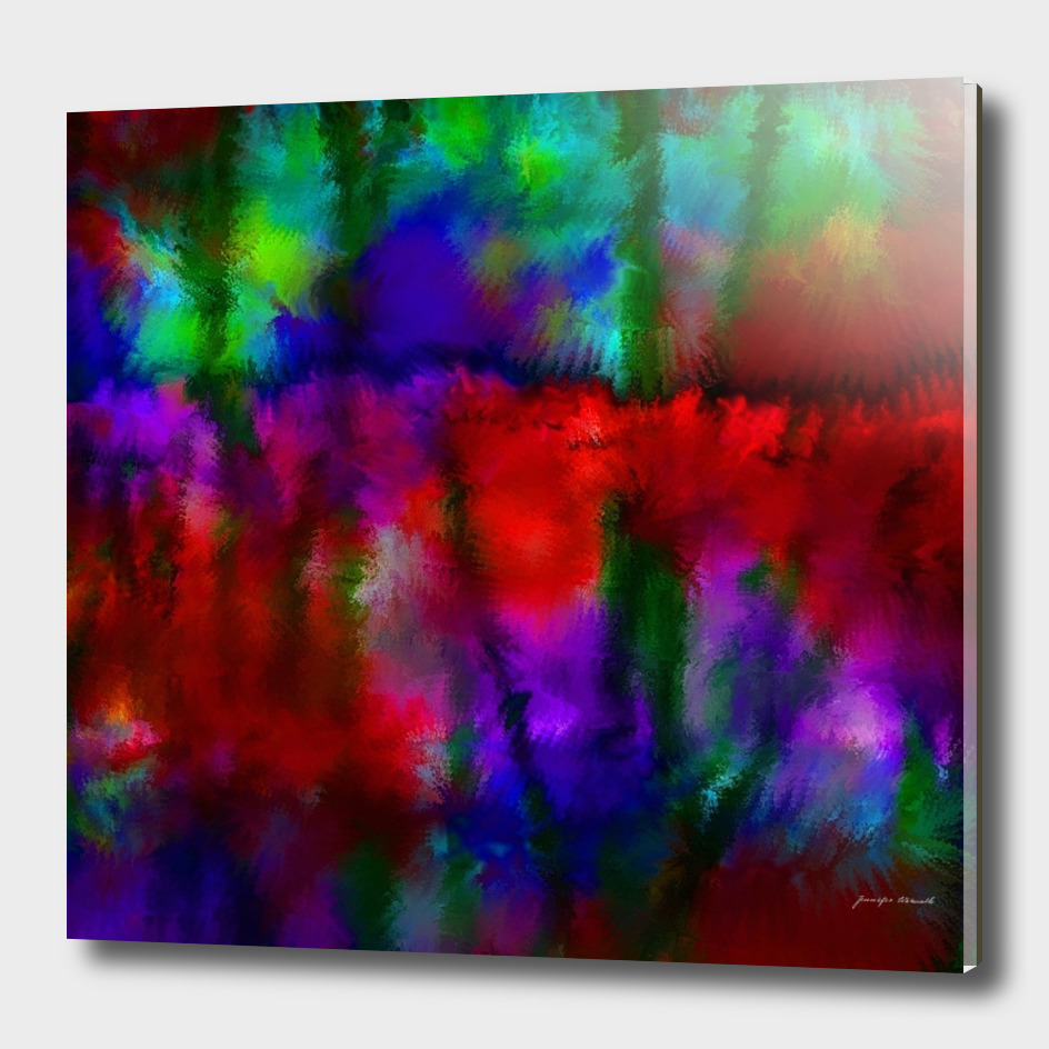 Colorful Abstract Flower Garden 1
