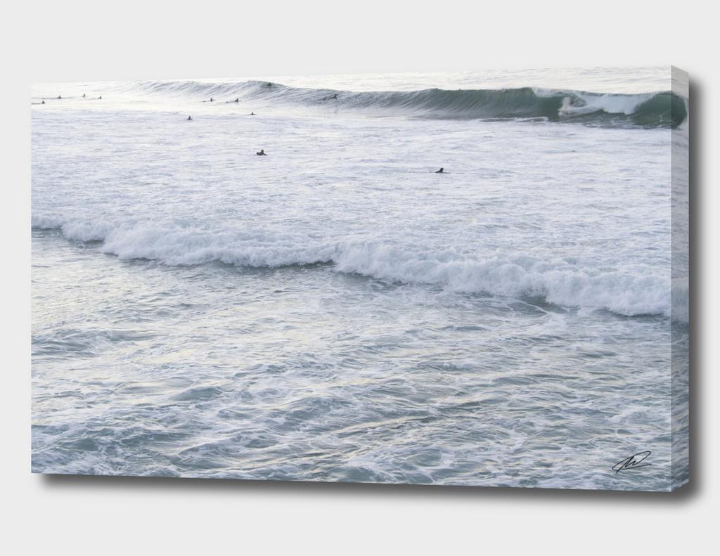 Sea of surfers