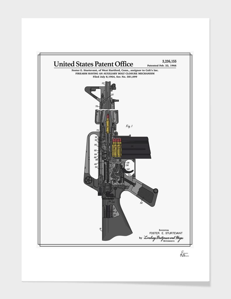 AR-15 Semi-Automatic Rifle Patent