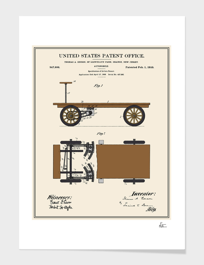 Thomas Edison Automobile Patent