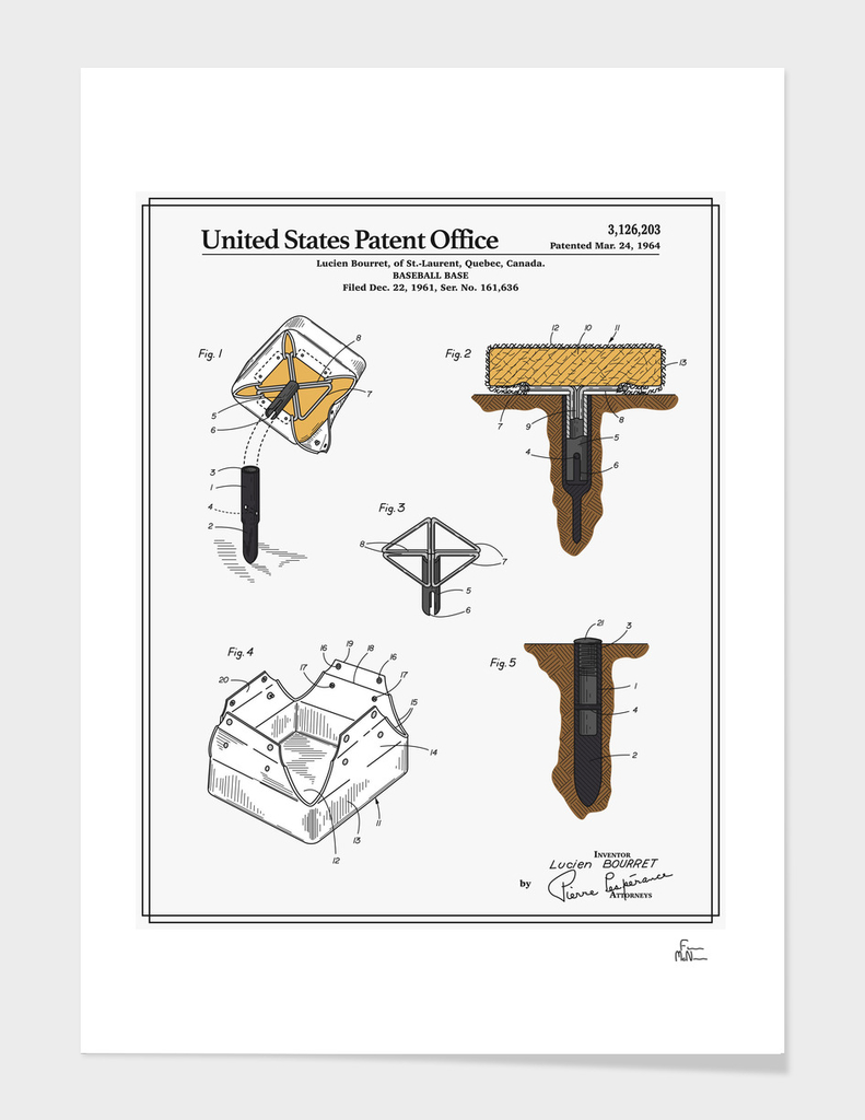 Baseball Base Patent