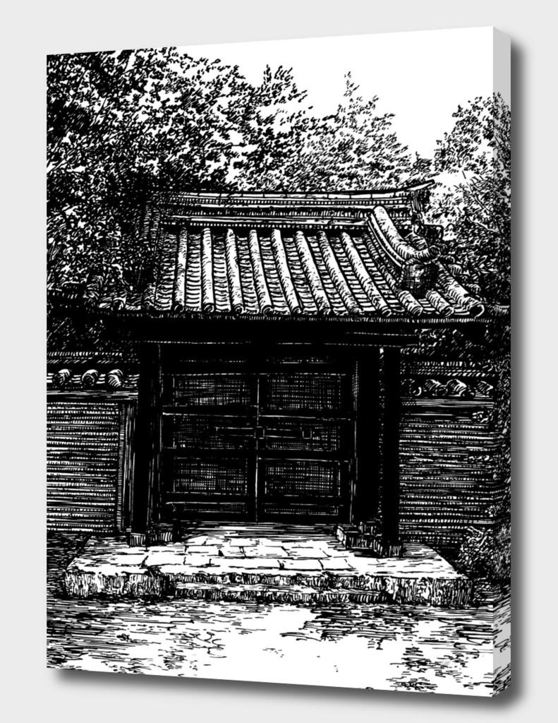 Japan temple enter