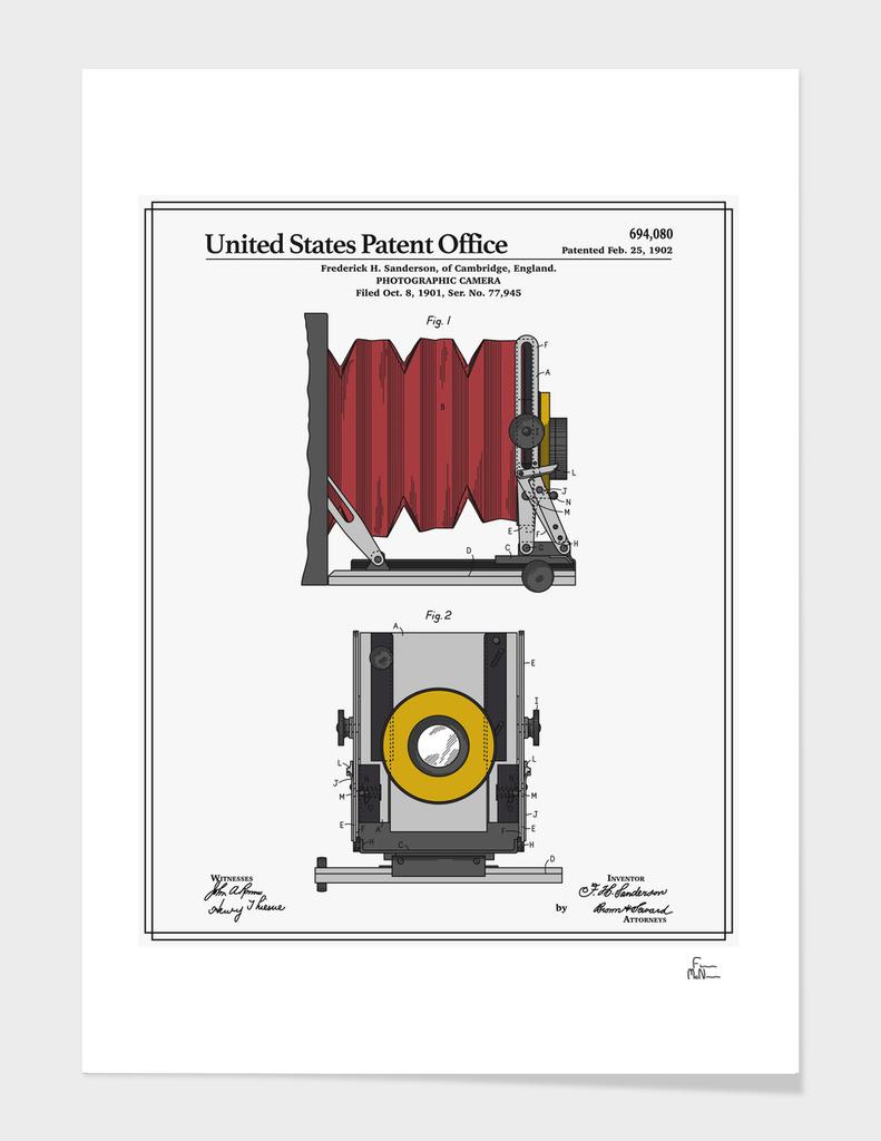 Camera Patent - 1902