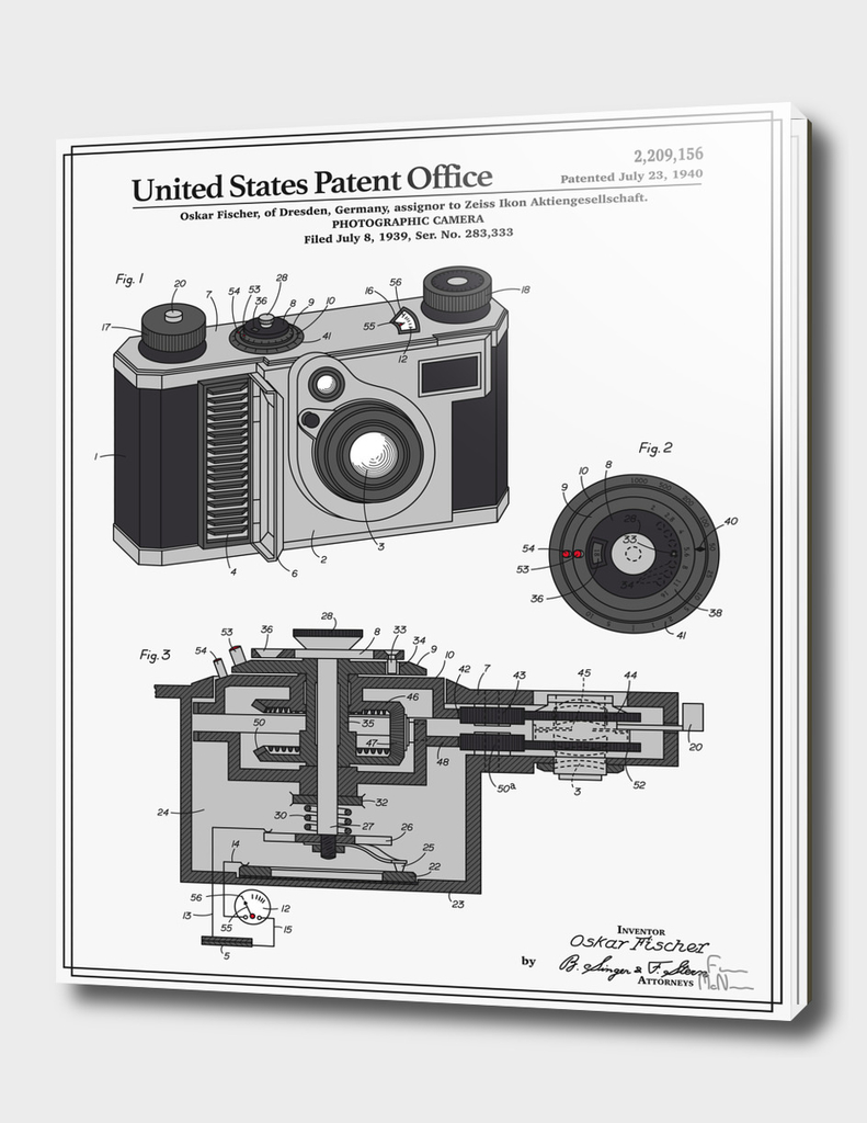 Camera Patent 1938