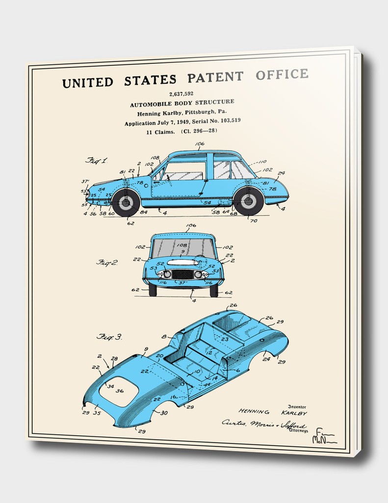 Automobile Body Patent