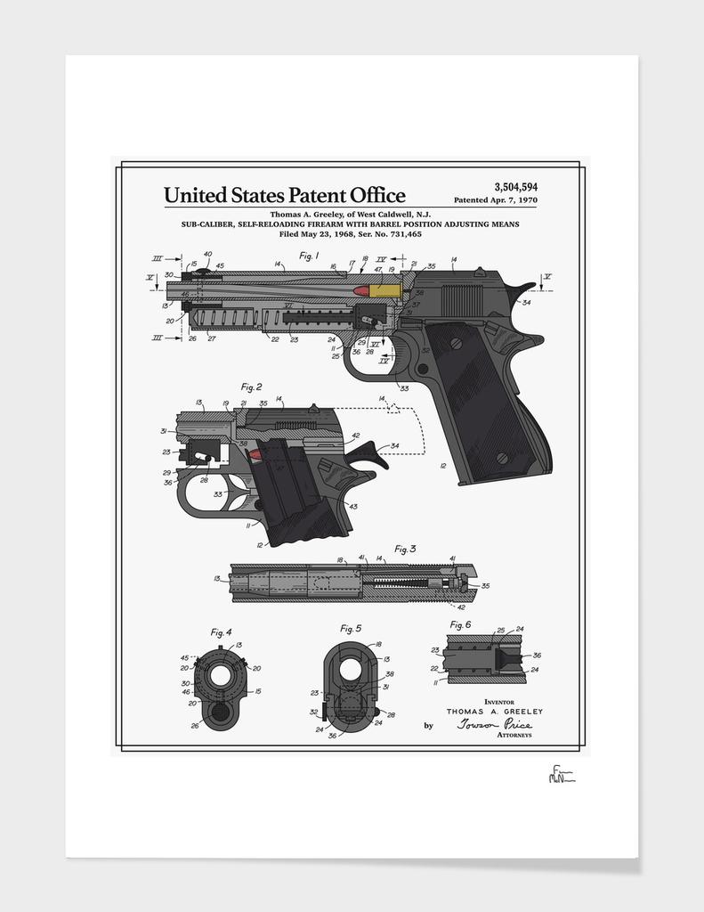 Colt 1911 Handgun Patent