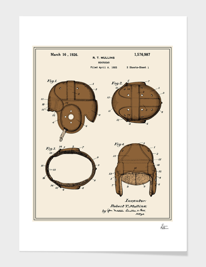 Football Helmet Patent