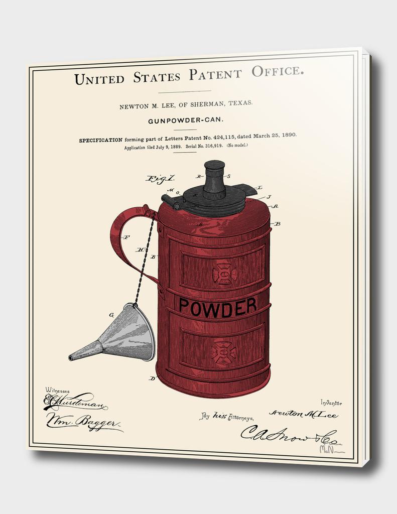 Gunpowder Can Patent