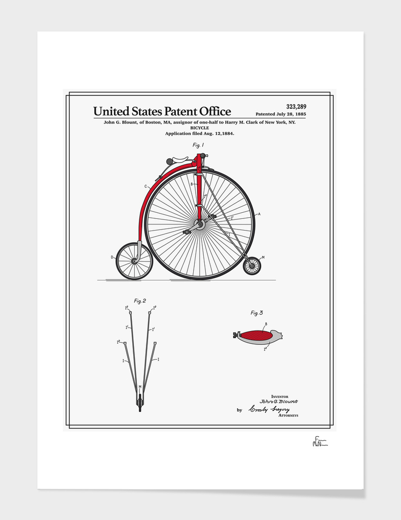 High Wheel Bicycle Patent