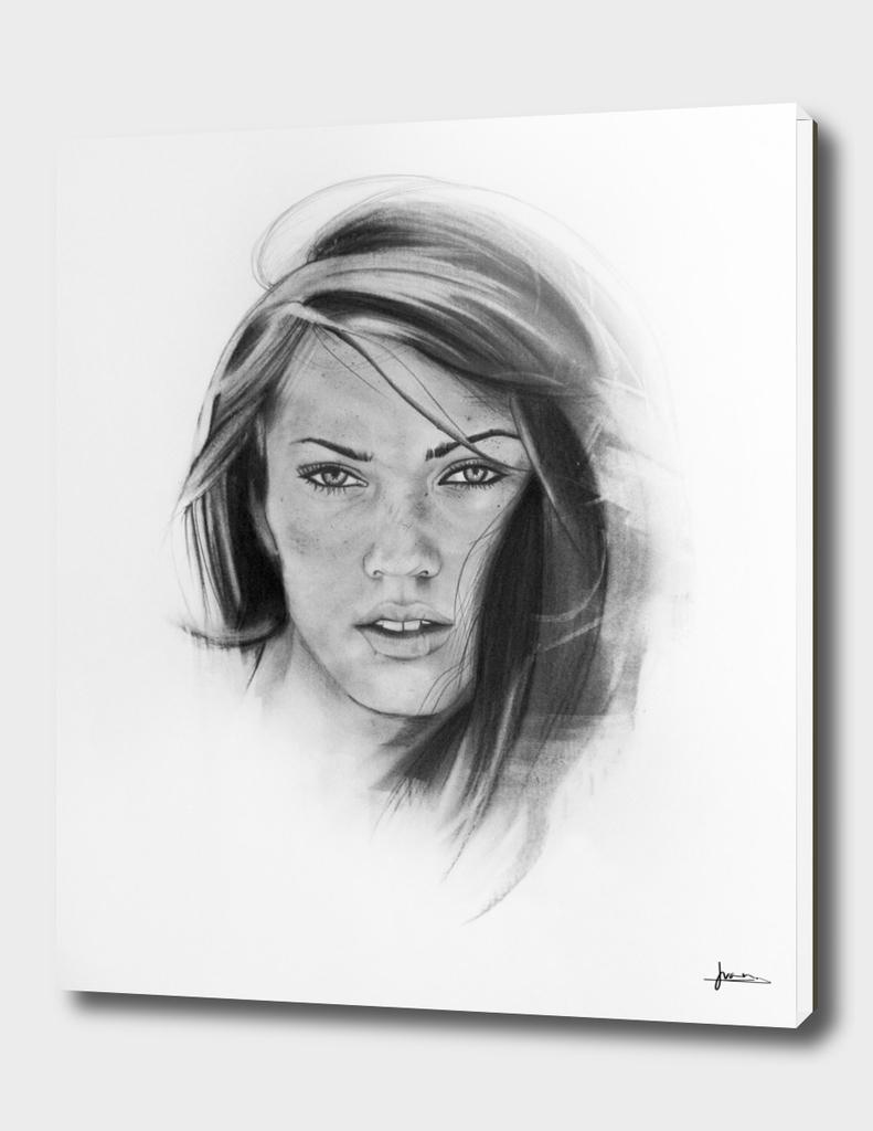 Woman Charcoal Portrait