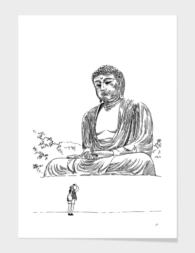 Buddha and photographer
